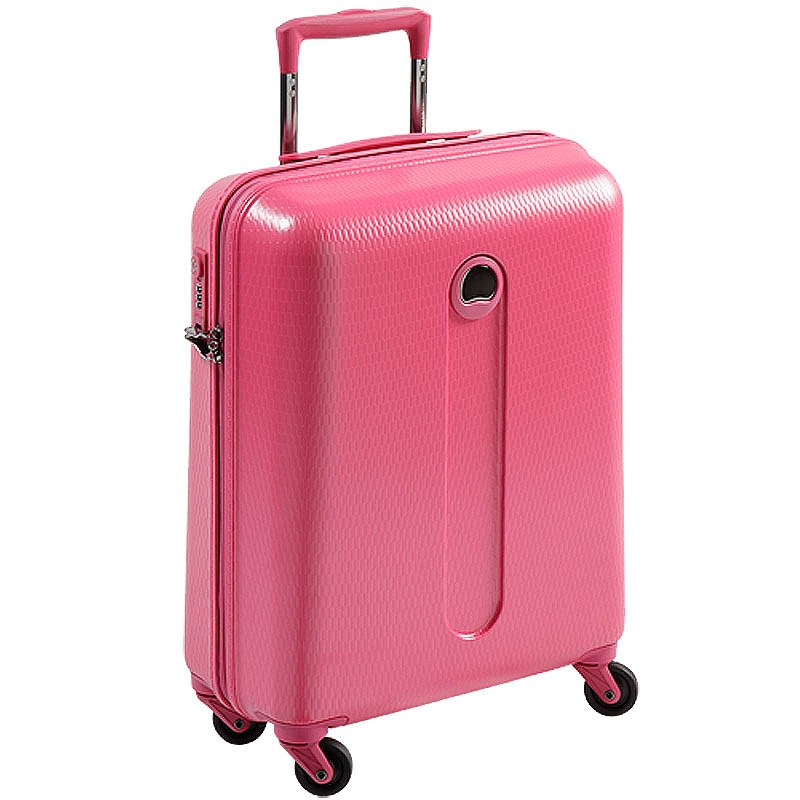 delsey 4 rollen kabinen trolley hartschale koffer helium pink rosa leicht 54 cm ebay. Black Bedroom Furniture Sets. Home Design Ideas