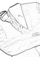 Anzug in der Reisetasche knitterfrei